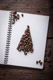 Árvore dos christmass dos feijões de Caffee Fotografia de Stock Royalty Free