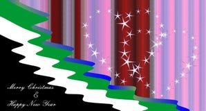 Árvore dos corações e de Natal com desejos Imagem de Stock Royalty Free