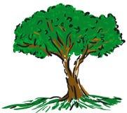 Árvore dos desenhos animados ilustração royalty free