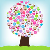 Árvore dos doces Fotografia de Stock