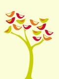 Árvore dos pássaros Fotografia de Stock Royalty Free