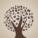 A árvore dos pensamentos Foto de Stock