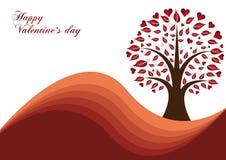 Árvore dos Valentim Imagem de Stock