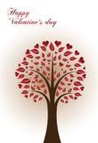 Árvore dos Valentim Foto de Stock