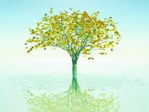 Árvore dourada ilustração royalty free
