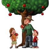 Árvore e alimento de família Imagens de Stock Royalty Free