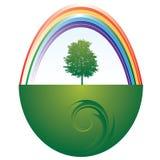 Árvore e arco-íris Imagens de Stock Royalty Free