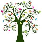 Árvore e borboleta Fotografia de Stock Royalty Free