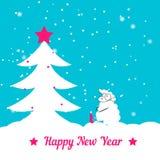 Árvore e carneiros de Natal Imagens de Stock