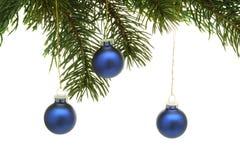 Árvore e esferas de Natal Foto de Stock Royalty Free