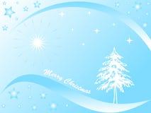 Árvore e estrelas de Natal Fotografia de Stock Royalty Free