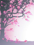 Árvore e flores ilustração royalty free
