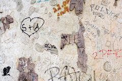 Árvore e grafittis imagens de stock royalty free