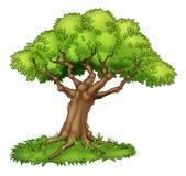 Árvore e grama dos desenhos animados Fotos de Stock Royalty Free