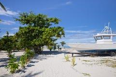 A árvore e o barco Fotografia de Stock Royalty Free
