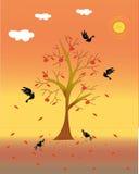 Árvore e pássaro ilustração stock
