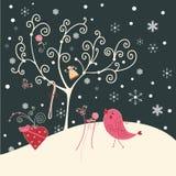 Árvore e pássaro Fotos de Stock Royalty Free