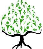 Árvore e povos Foto de Stock Royalty Free