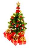 Árvore e presentes de Natal Imagens de Stock Royalty Free
