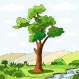 Árvore e rivulet Fotografia de Stock Royalty Free