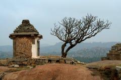 Árvore e templo Imagem de Stock Royalty Free