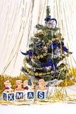 Árvore e velas de Natal Imagem de Stock Royalty Free