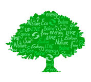 Árvore ecológica Imagens de Stock