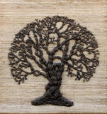 Árvore em uma lona Foto de Stock Royalty Free