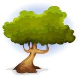 Árvore engraçada da mola dos desenhos animados Imagem de Stock Royalty Free
