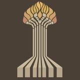 Árvore estilizado Imagens de Stock Royalty Free