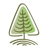 Árvore estilizado do vetor Foto de Stock Royalty Free