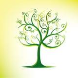 Árvore estilizado nos redemoinhos ilustração royalty free