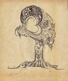 Árvore estilizado original ilustração stock