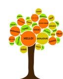Árvore europeia da língua Imagens de Stock Royalty Free