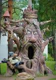 Árvore feericamente mágica na floresta de surpresa fotografia de stock royalty free