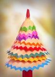 Árvore feita de aparas do lápis Fotografia de Stock Royalty Free