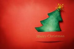 Árvore feito a mão de Chrsitmas do ofício de papel fotografia de stock royalty free