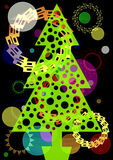 Árvore festiva Imagens de Stock Royalty Free