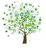 Árvore floral ilustração do vetor