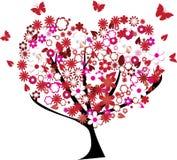 Árvore floral ilustração royalty free