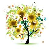 Árvore floral bonita Imagens de Stock