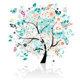 Árvore floral bonita Foto de Stock