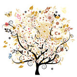 Árvore floral de Bautiful Fotos de Stock