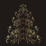Árvore floral do Natal ou do ano novo ilustração royalty free