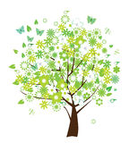 Árvore floral do vetor Fotografia de Stock