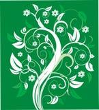 Árvore floral estilizado. Fotos de Stock Royalty Free