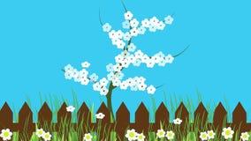Árvore florido na mola ilustração stock