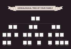 Árvore genealógica de sua família calligraphic ilustração stock