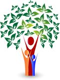 Árvore genealógica feliz com amor ilustração stock