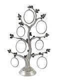 Árvore genealógica genealógica de prata Imagem de Stock